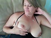 Jolene showing her beautiful vulva and milk cans